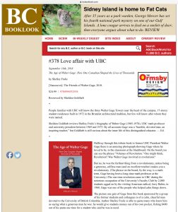 BCBooklook review: Love Affair with UBC
